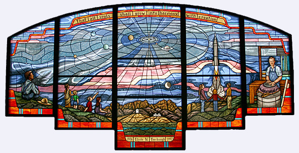 Tombaugh Memorial Stained-glass window