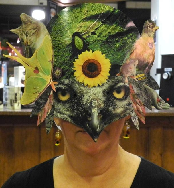 Bird Woman Mask, by Suzelle Lynch