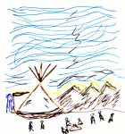 Drawing of the Camp